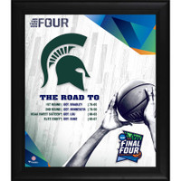 "Michigan State Spartans Authentic Framed 15"" x 17"" 2019 NCAA Men's Basketball Tournament March Madness Final Four Bound Collage"