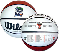 Texas Tech Red Raiders 2019 NCAA Men's Basketball Tournament Road to the Final Four Champions Leather Basketball LE 5,000