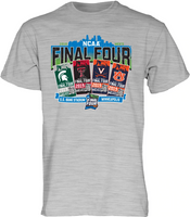 Blue 84 Men's Grey 2019 Men's Basketball NCAA Final Four Ticket T-Shirt