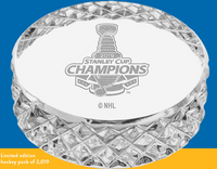 St. Louis Blues 2019 NHL Stanley Cup Champions Solid Crystal Puck LE 2,019