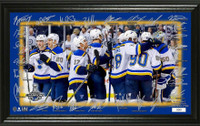 St. Louis Blues 2019 Stanley Cup Champions 12'' x 20'' Signature Rink Celebration Panoramic LE 5,000