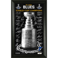St. Louis Blues 2019 Stanley Cup Champions 12'' x 20'' Signature Trophy LE 5,000