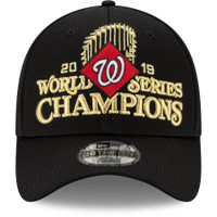 Washington Nationals New Era 2019 World Series Champions Locker Room 39THIRTY Flex Hat - Black