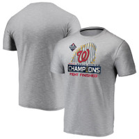 Washington Nationals Fanatics Branded 2019 World Series Champions Locker Room Space Dye T-Shirt - Gray