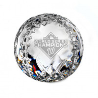 Washington Nationals 2019 World Series Champions Solid Crystal Baseball LE 5,000
