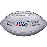 "NFL 100 Wilson ""The Duke"" Silver Metallic Football"