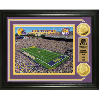 LSU Tigers 3-Time National Champions 2pc Gold Coin Photo Mint LE 5,000