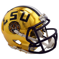 LSU Tigers Chrome Alternate Speed Full Size Authentic Football Helmet