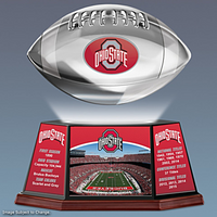 Ohio State Buckeyes 8-Time National Champions Limited Edition College Hover Football Helmet  w/Stand