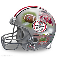 Ohio State Buckeyes 8-Time National Champions Limited Edition College Football Sculpture Helmet