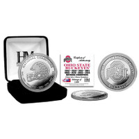 Ohio State Buckeyes 8-Time National Champions Silver Coin LE 5,000