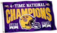 LSU Tigers 2019 4-Time National Champions 3' x 5' Flag