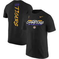 LSU Tigers Nike College Football Playoff 2019 National Champions Script 2-Hit T-Shirt - Black