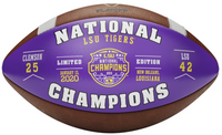 LSU Tigers College Football Playoff 2019 National Champions Wilson Leather Commemorative Football