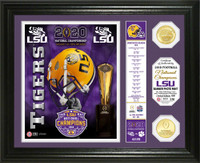 "LSU Tigers 2019 Football National Champions ""Banner"" 24 Gold Coin Photo Mint LE 5,000"