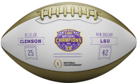 LSU Tigers 2019 CFP National Champions Wilson Metallic Leather Commemorative Football