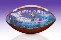 LSU Tigers 2019 CFP National Champions Wilson Leather Portrait Art Commemorative Football LE 5,000