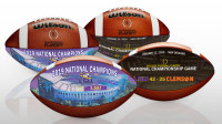 LSU Tigers 2019 CFP National Champions Wilson Leather 2 Commemorative Football Set LE 5,000