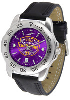 LSU Tigers 2019 CFP National Champions Sport AnoChrome Leather Watch