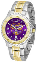 LSU Tigers 2019 CFP National Champions 23k Gold 2-Tone Competitor AnoChrome Watch