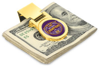 LSU Tigers 2019 CFP National Champions 23k Gold Money Clip