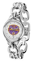 LSU Tigers 2019 CFP National Champions Ladies Silver Eclipse Link Watch