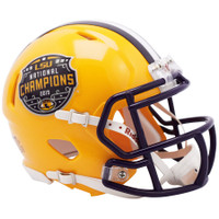 LSU Tigers 2019 CFP National Champions Logo Speed Mini Helmet