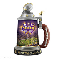 LSU Tigers 2019 Football National Champions Commemorative Stein LE 2,019