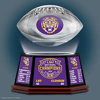 LSU Tigers 2019 Football National Champions Levitating Football LE 10,000