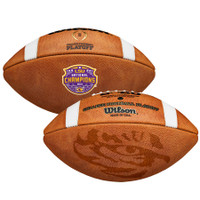 LSU Tigers CFP 2019 National Champions Wilson Leather LSU Logo Commemorative Football LE