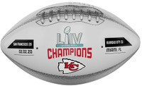 Kansas City Chiefs Super Bowl LIV Champions Leather Football w/Scores LE