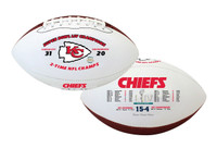 Kansas City Chiefs Super Bowl LIV Champions Leather Souvenir Football w/Scores LE 5,000