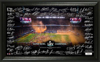 Kansas City Chiefs Super Bowl LIV Champions Signature Grid LE 5,000
