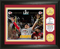 Kansas City Chiefs Super Bowl 54 Champions Celebration 2pc Gold Coin Photo Mint LE 5,000
