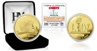 Kansas City Chiefs Super Bowl 54 Champions Gold Coin LE 10,000