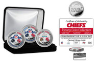 Kansas City Chiefs Super Bowl 54 Champions 3pc Silver Coin Set Coin LE 5,400