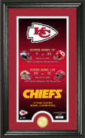 "Kansas City Chiefs 2 Time Super Bowl 54 Champions ""legacy"" Gold Coin Photo MintLE 5,000"