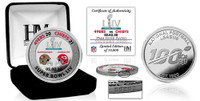 Kansas City Chiefs Super Bowl 54 Champions Silver Color Coin LE 10,000
