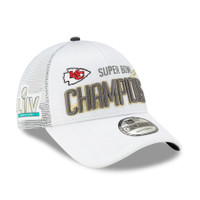 Kansas City Chiefs New Era Super Bowl LIV Champions Locker Room 9FORTY Adjustable Hat - White