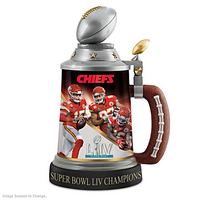 Kansas City Chiefs Super Bowl LIV Champions Commemorative Stein LE 5,000
