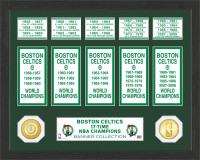 Boston Celtics 24k Gold Coin Banner Photo Mint