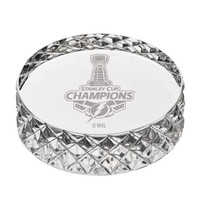 Tampa Bay Lightning 2020 Stanley Cup Champions Solid Crystal Hockey Puck LE 5,000