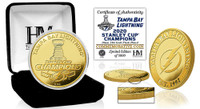 Tampa Bay Lightning 2020 Stanley Cup Final Champions Gold Mint Coin LE 5,000