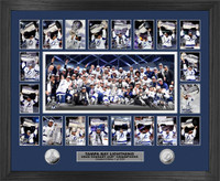 "Tampa Bay Lightning 2020 Stanley Cup Final Champions 2pc Silver Coin ""Memorable Moments"" Photo Mint Framed 18"" x 22"" LE 2,020"