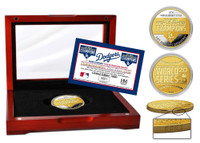 Los Angeles Dodgers 2020 World Series Champions Two-Tone Gold and Silver Mint Coin w/Case LE 5,000
