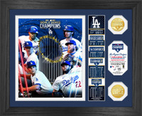 "Los Angeles Dodgers 2020 World Series Champions ""Banner"" 2pc Gold Coin Photo Mint Framed LE 5,000"