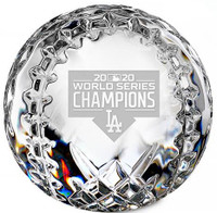 Los Angeles Dodgers 2020 World Series Champions Solid Crystal Baseball LE 2,020