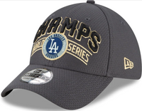 Los Angeles Dodgers New Era Graphite 2020 World Series Champions Locker Room 39THIRTY Flex Hat