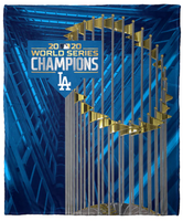 Los Angeles Dodgers 2020 World Series Champions 50'' x 60'' Silk Touch Throw Blanket