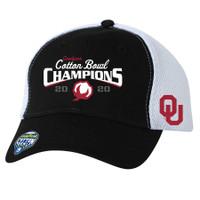 Oklahoma Sooners 2020 Cotton Bowl Champions Locker Room Adjustable Hat - Black